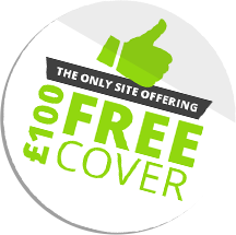 The only site offering £100 free cover
